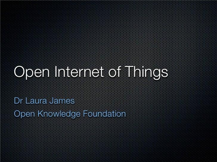 Open iot2012 talk, Open Knowledge Foundation