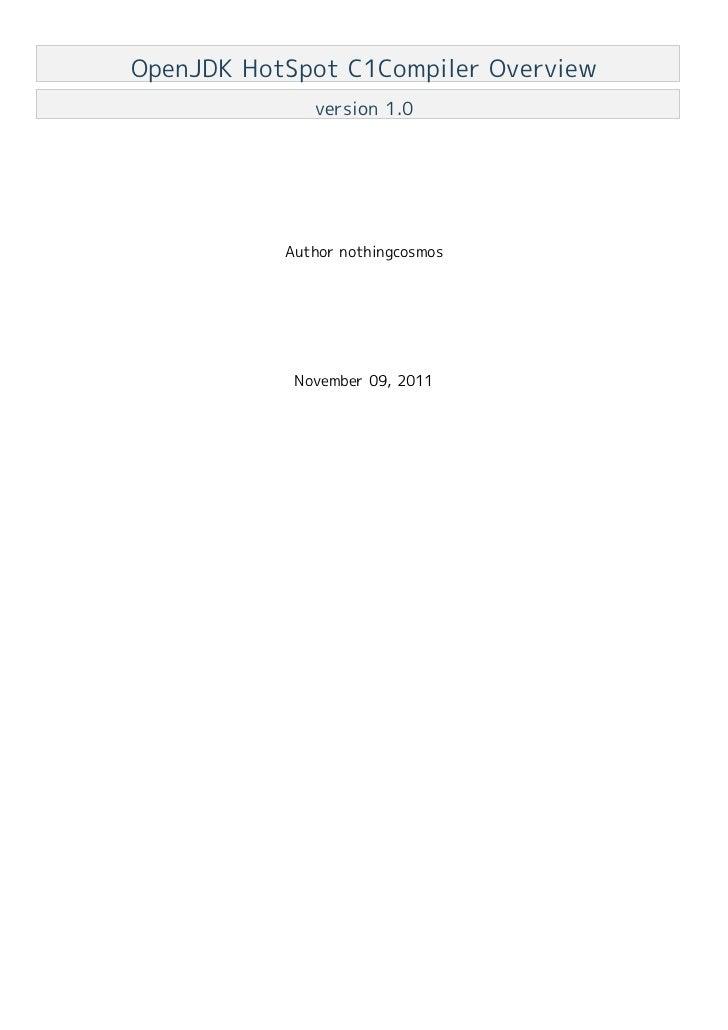 OpenJDK HotSpot C1Compiler Overview