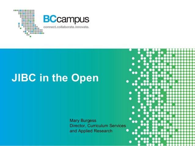 Open jibc presentation sept_13_slideshare