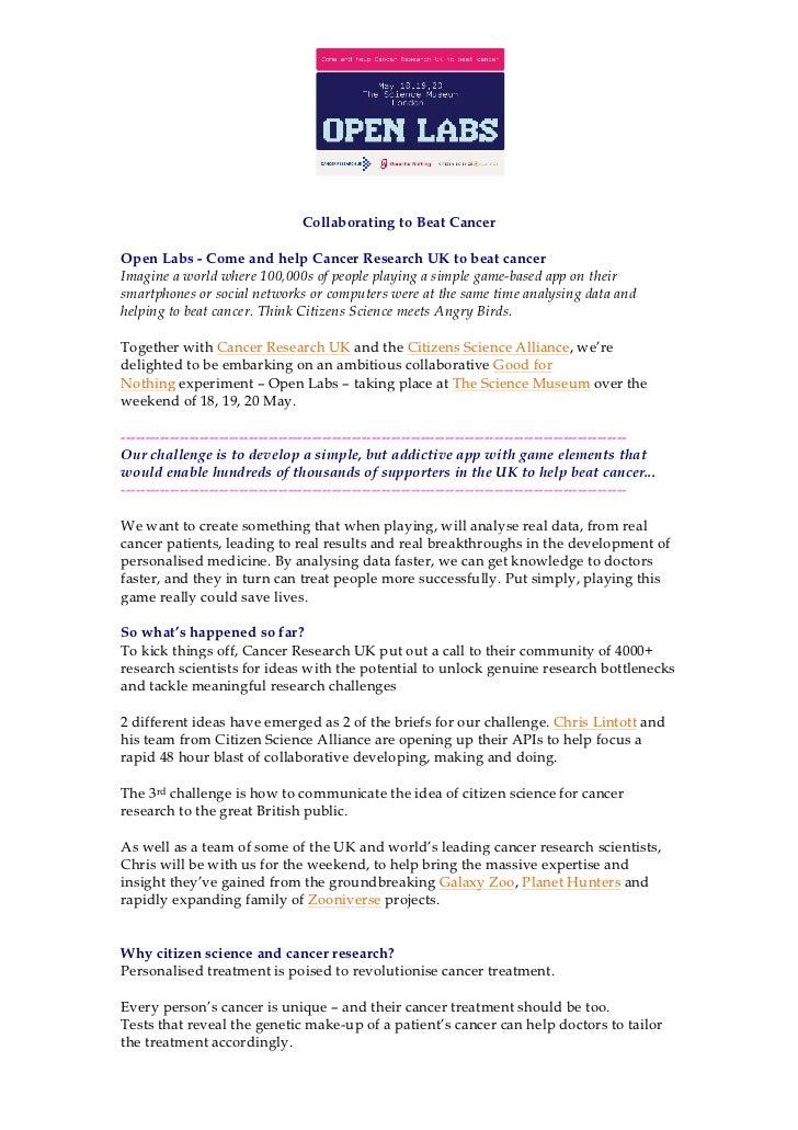 Open Labs brief
