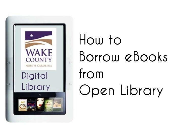 How to          Borrow eBooksDigital   fromLibrary          Open Library