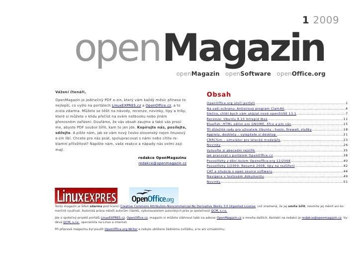 1 2009               openMagazin                                                        openMagazin openSoftware openOffic...