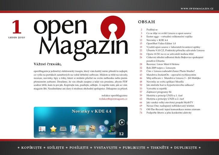 openMagazin 1/2010