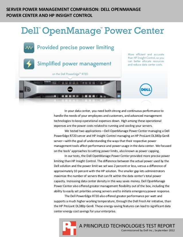 Server power management comparison: Dell OpenManage Power Center and HP Insight Control