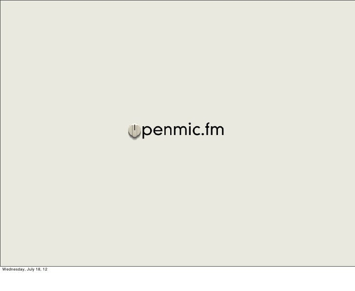 ITP Thesis Presentation – Openmic.fm