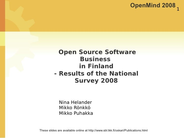OpenMind 2008                                                                                       1                  Ope...