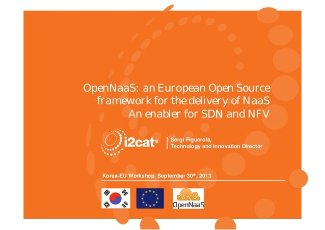 RINA Research, Korea-EU Workshop OpenNaaS: an European Open Source framework for the delivery of NaaS An enabler for SDN a...
