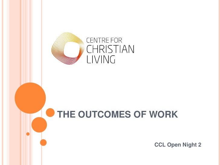 CCL Open Night 2 - Work