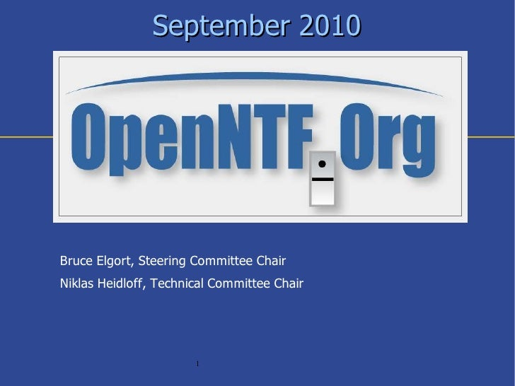 OpenNTF Overview 09/10