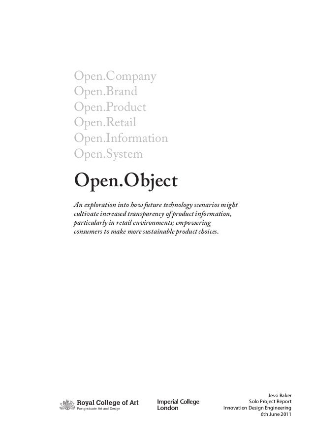 Open object project_report