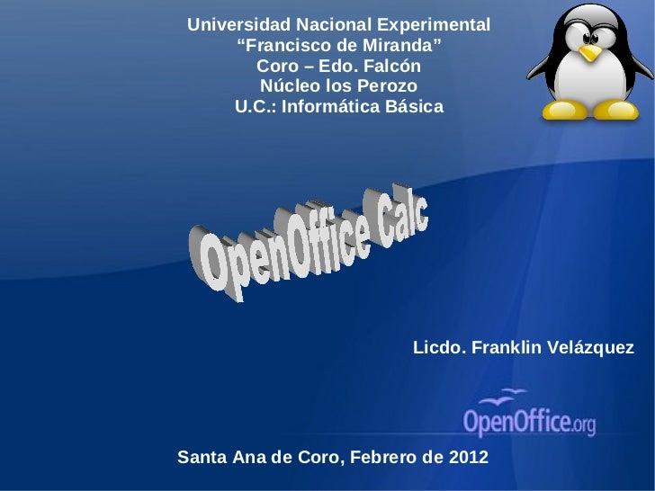 Open office calc
