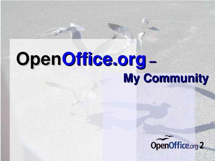 Open Office.org   –  My Community