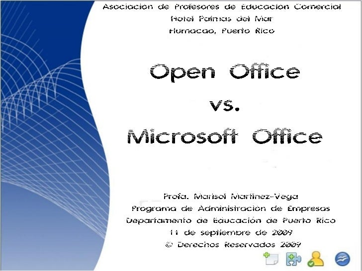 Open Office Vs. Microsoft Office Apec