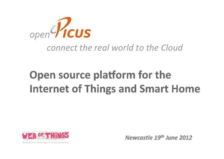 OpenPicus Keynote at Web of Things workshop 2012 in Newcastle