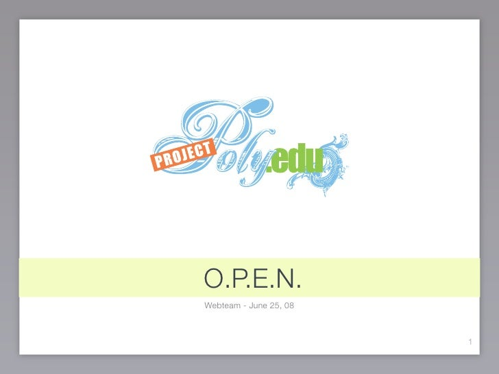 Open Poly