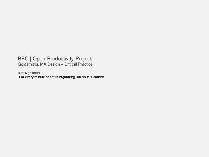 BBC | OpenProductivity