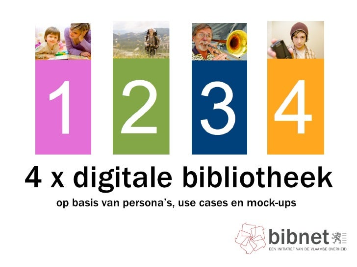 4 x digitale bibliotheek op basis van persona's, use cases en mock-ups