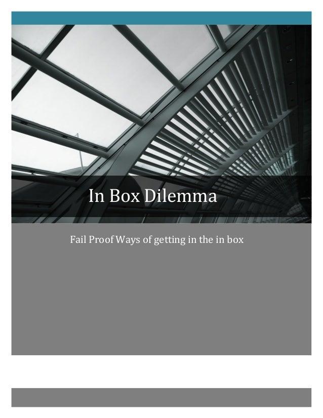 In  Box  Dilemma               ...