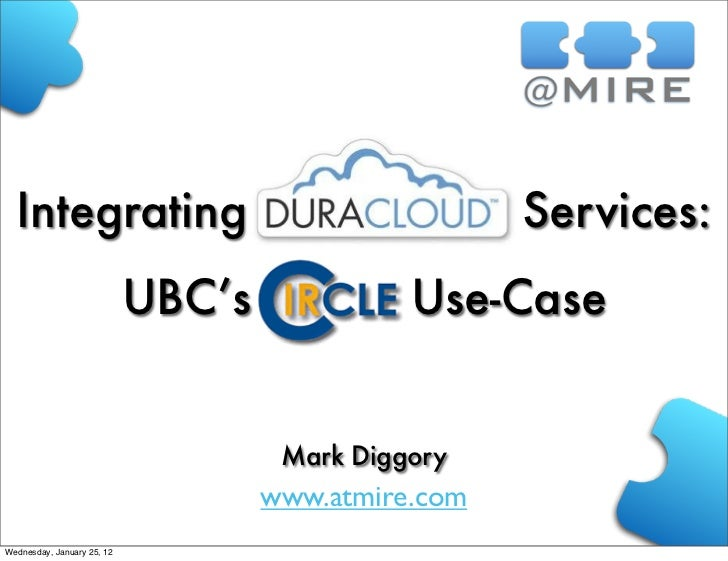 Integrating                                        Services:                            UBC's             Use-Case        ...
