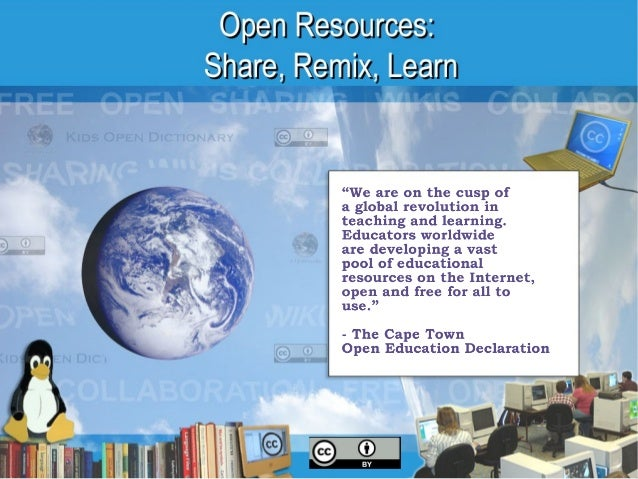 NCCE 2013 - Open Resources: Share, Remix, Learn