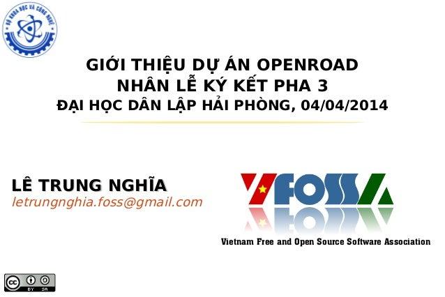Open road presentation-haiphong-04042014