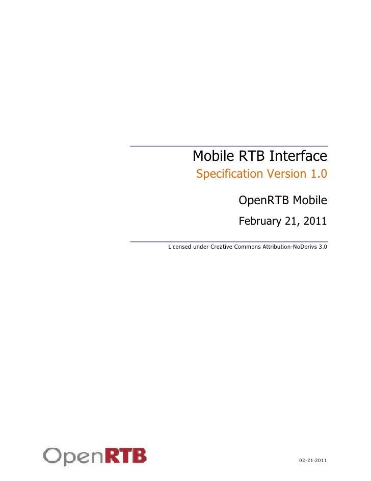 OpenRTB Mobile