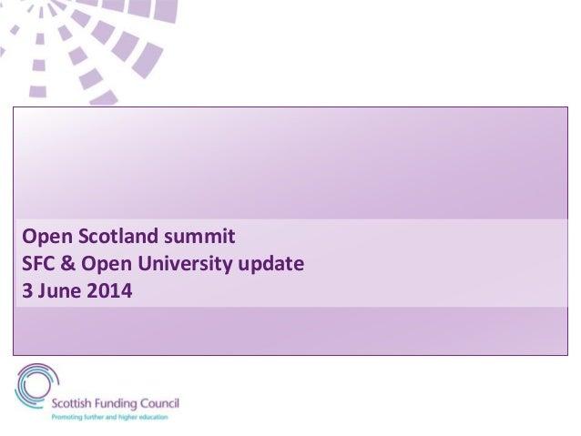 SFC & Open University Update by David Beards and Ronald MacIntyre