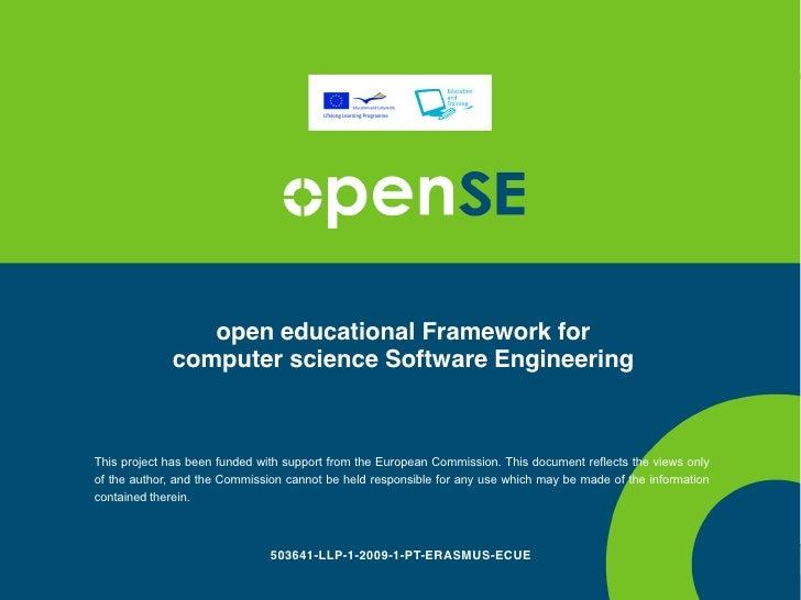 OpenSE Learner Support Framework - part 3