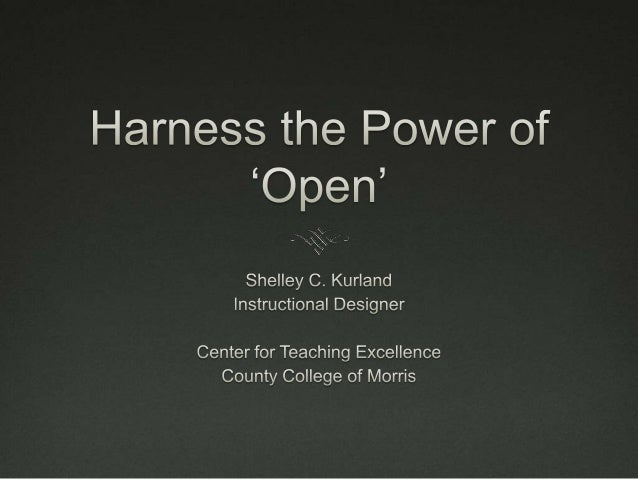Harness the Power of 'Open'