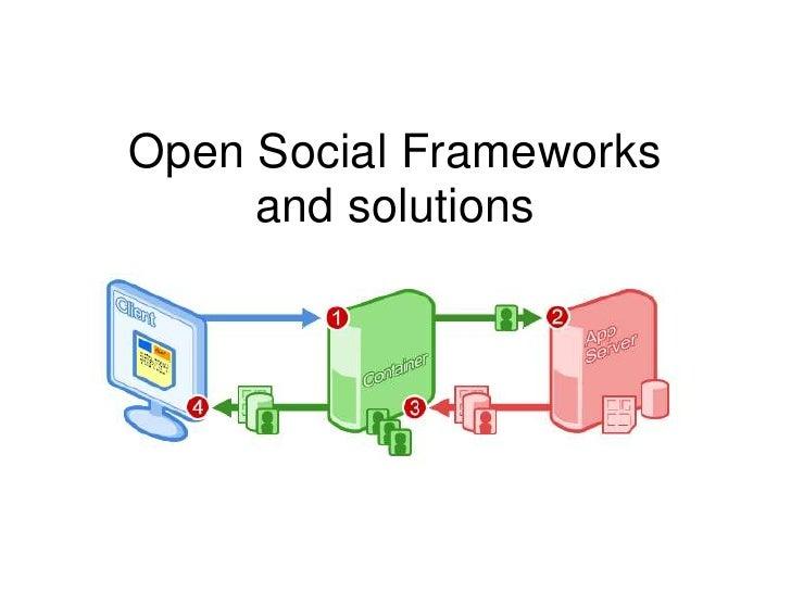 Open Social Frameworks