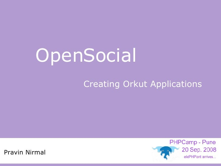 Open Social Phpcamp