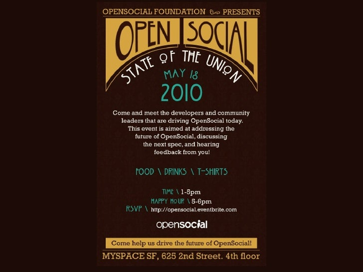 OpenSocial State of the Union 2010
