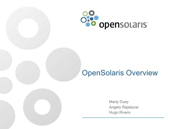 Introduction to OpenSolaris 2008.11