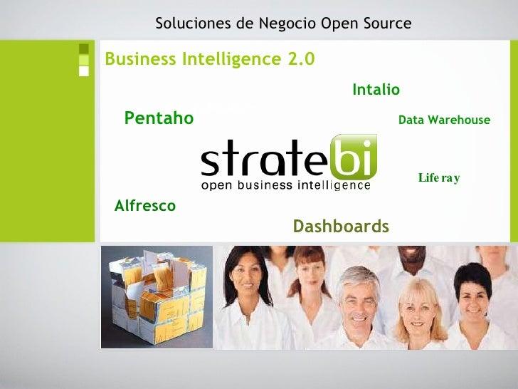 Business Intelligence 2.0   Intalio   Pentaho   Data Warehouse   Liferay Alfresco Dashboards Soluciones de Negocio Open So...