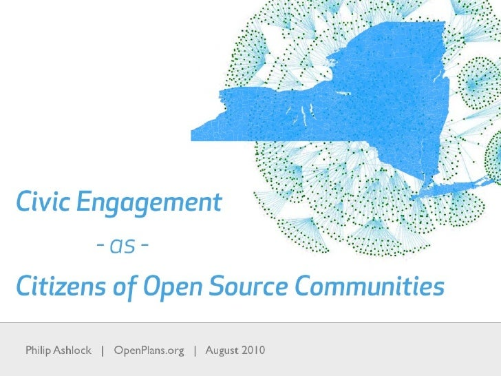 Civic Engagement as Citizens of Open Source Communities