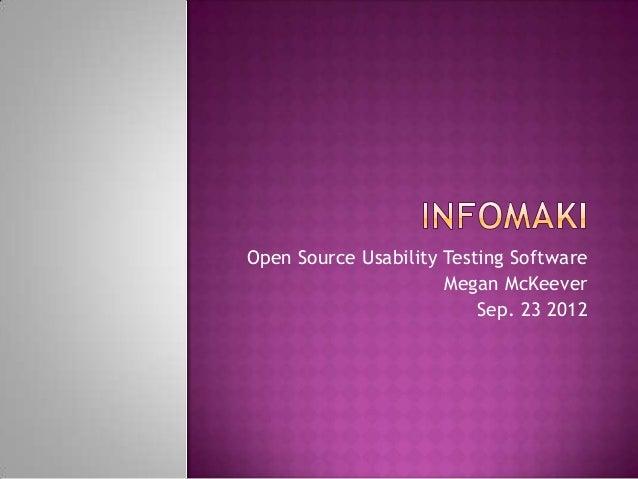 Megan McKeever - Open Source