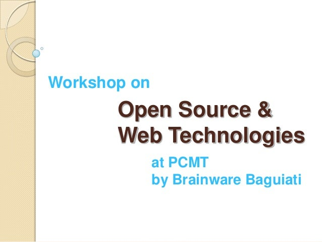 Open Source Technologies for Engg Students