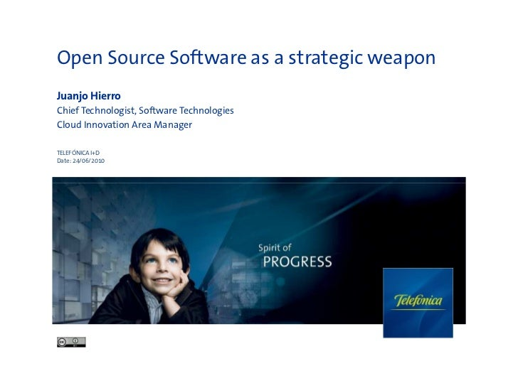 Open source as a strategic weapon and the morfeo case