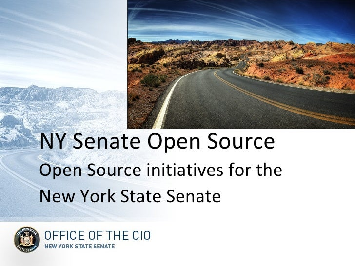 NY Senate Open Source Open Source initiatives for the New York State Senate