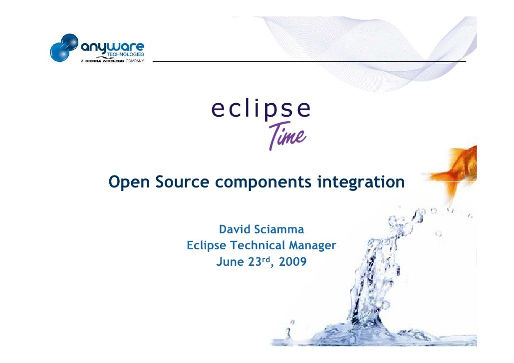 Open Source components integration © Anyware Technologies-All Right Reserved                                              ...