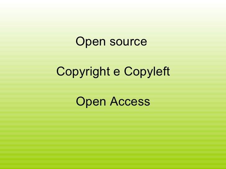 Open source copyright e copyleft