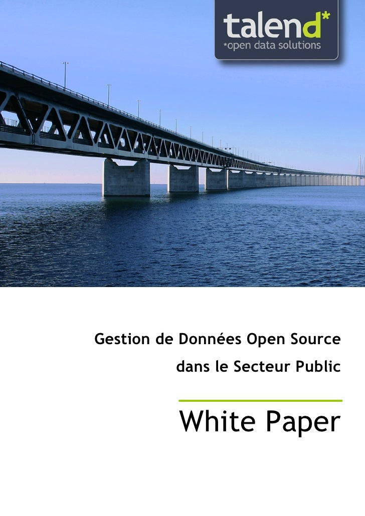 Open source dans le secteur public selon talend