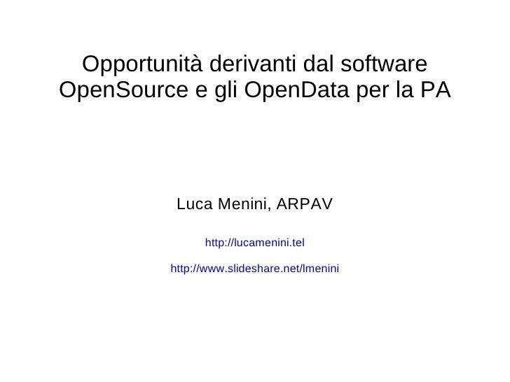 Open source e opendata per la PA