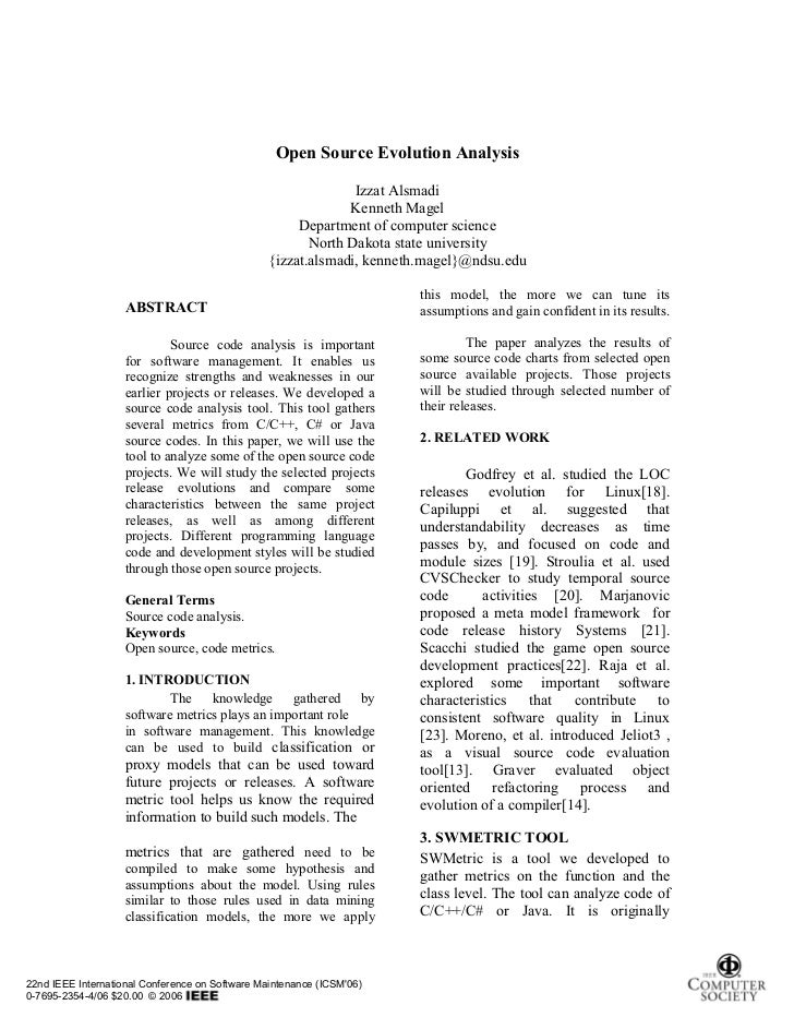 Open Source Evolution Analysis                                                               Izzat Alsmadi                ...