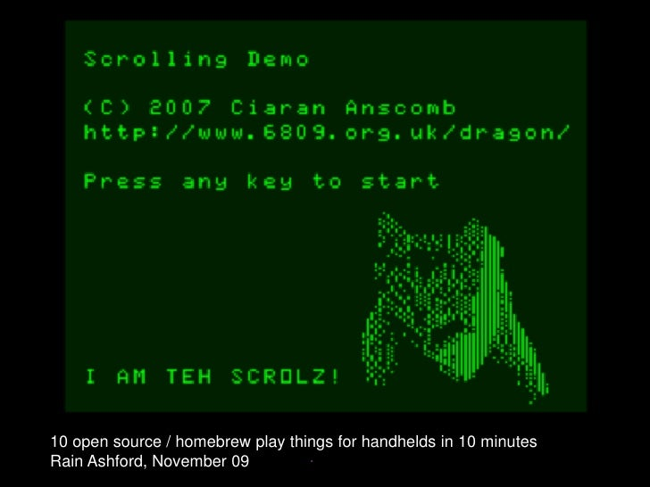 10 open source / homebrew games for handhelds in 10 minutess
