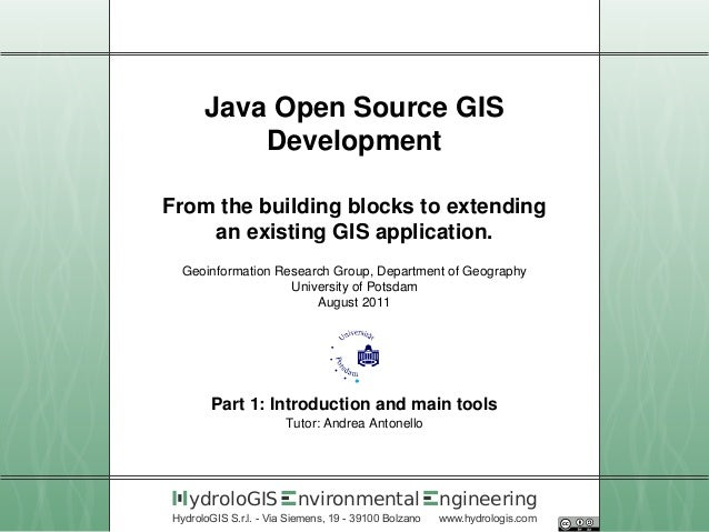 Java Open Source GIS          DevelopmentFrom the building blocks to extending    an existing GIS application. Geoinformat...