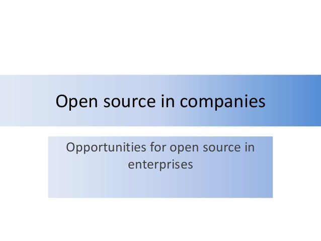 Open source in companies - An introduction