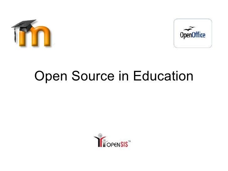Open Source in Education
