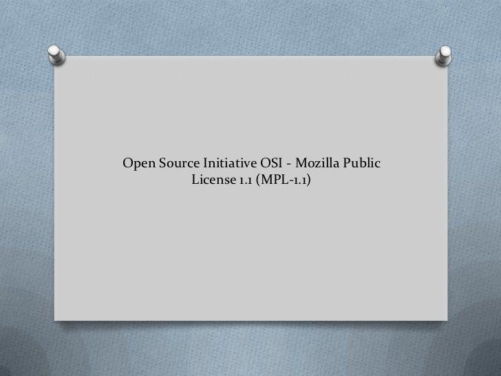 Open source initiative osi   mozilla public license