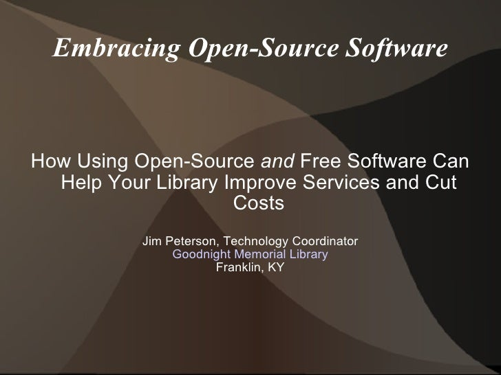 Open sourcelibrary